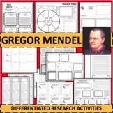 GREGOR MENDEL Research Project Timeline Poster Poem Biography Graphic Organizer