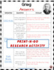 GRIEG Research Activity Sheets
