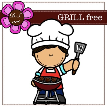 GRILL free Digital Clipart (color and black&white)