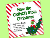 GRINCH Activity Pack:  sequence, flannel pieces, mini book, rhyming/retelling