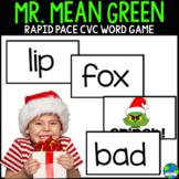 Mr Mean Green CVC word Christmas themed game