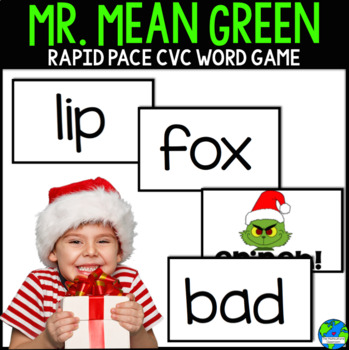 Mr Mean Green CVC word Christmas themed game