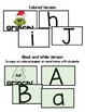 Mr Mean Green Letter Sound Christmas Themed game with Spanish & English letters