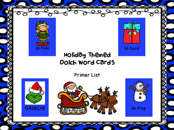 GRINCH! Primer Dolch Word Game