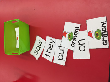 Mr Mean Green number recognition game Christmas themed game