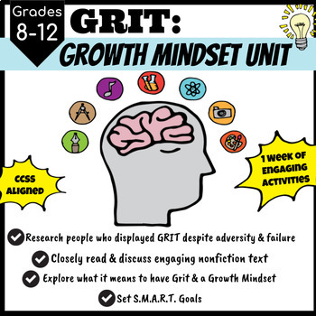 GRIT: A Growth Mindset Unit for Upper Grades