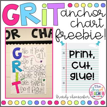 GRIT Growth Mindset Anchor Chart FREEBIE!