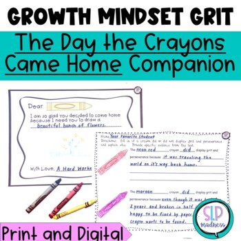 GRIT-Perseverance--Social skills Companion for The Day the Crayons Came Home
