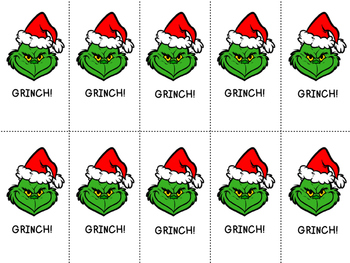 GRINCH! Pre-Primer Dolch Word Game