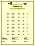 GROOMING HORSES: A  VOCABULARY WORD SEARCH