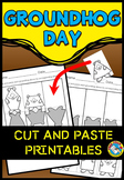 FEBRUARY WORKSHEETS (2D SHAPES MATCH) GROUNDHOG DAY ACTIVITY KINDERGARTEN, PREK)