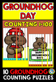 GROUNDHOG DAY COUNTING (NUMBERS TO 100 GAME) FEBRUARY ACTIVITY KINDERGARTEN