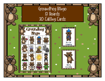 GROUNDHOG DAY 4 x 4  BINGO GAME 12 UNIQUE BOARDS & CALLING CARDS