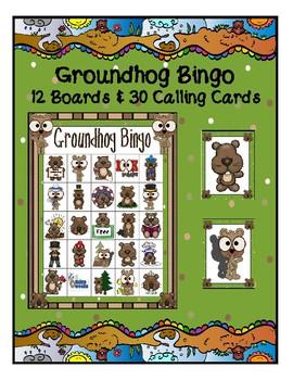 GROUNDHOG DAY 5 x 5  BINGO GAME 12 UNIQUE BOARDS & CALLING CARDS