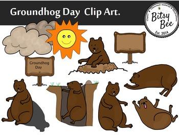 GROUNDHOG DAY CELEBRATION CLIP ART