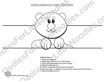 GROUNDHOG DAY CROWN  (no-prep, 2 page project)