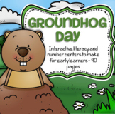 Groundhog Day Literacy and Math Centers and Activities for Preschool 90 pages