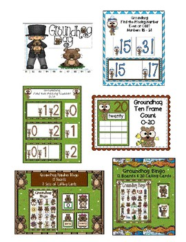 GROUNDHOG DAY MATH CENTER STATION BUNDLE SAVE 50%