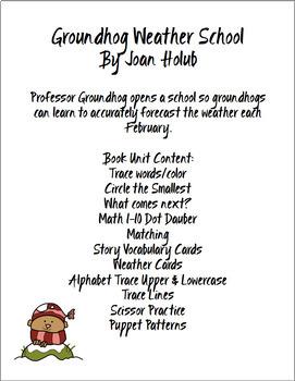 GROUNDHOG WEATHER SCHOOL  BOOK UNIT