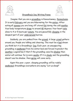 GROUNDHOG'S DAY WRITING FRAME: FREEBIE