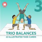 GROUP BALANCES: 23 Gymnastic Trio Balances for your P.E. Class