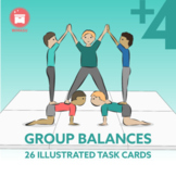 GROUP BALANCES: 26 Gymnastic Group of 4 to 7+ Balances for