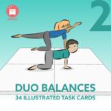 GROUP BALANCES: 34 Gymnastic Duo Balances for your P.E. Class