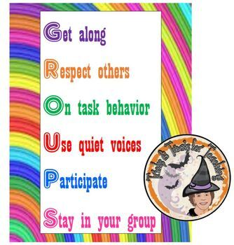 GROUP Poster Stations Centers Groups Expectations Norms Behavior