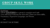GROUP WORK: Vocab, Figurative Language, and Theme!