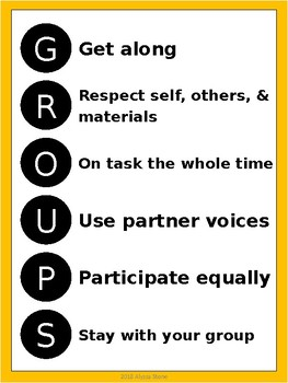 GROUPS Acronym Posters - Charlie Brown Tribute Colors