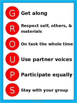 GROUPS Acronym Posters - Dr. Seuss Tribute Colors