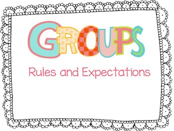 GROUPS: Anchor Chart