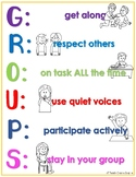 GROUPS Anchor Chart and Activity