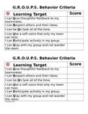 GROUPS Behavior Rubric