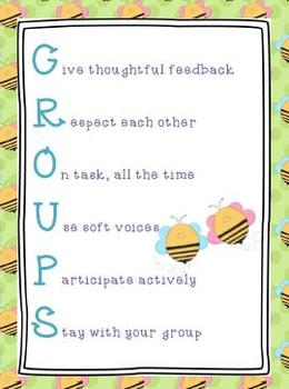 GROUPS Poster Bee Theme