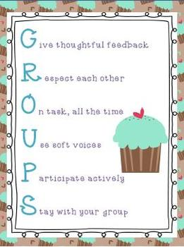 GROUPS Poster Cupcake Theme
