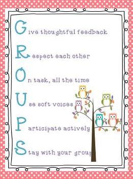 GROUPS Poster Polka Dot and Owl Theme