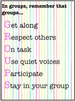 GROUPS Poster (Stripes)