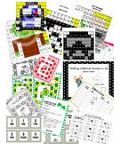 GROWING Math Bundle doubles, commutative +, word prob, mystery pics, more/less