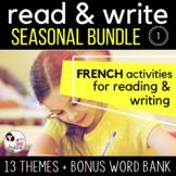 GROWING BUNDLE #1 - French READ & WRITE - Seasonal Reading