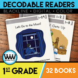 BUNDLE: 1st Grade Decodable Readers ~ 32 Color/Blackline PDFs & eBooks