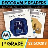 BUNDLE: 1st Grade Decodable Readers ~ 32 Color/Blackline PDFs & eBooks