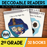 BUNDLE: 2nd Grade Decodable Readers ~ 32 Color/Blackline PDFs & eBooks