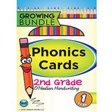 2nd Grade Phonics Cards & Alphabet Cards D'Nealian ~ 1 Year