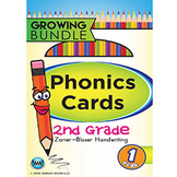 2nd Grade Phonics Cards & Alphabet Cards Zaner-Bloser ~ 1 Year