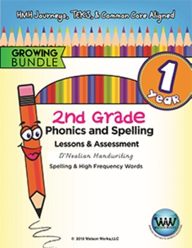 BUNDLE: 2nd Grade Watson Works Phonics & Spelling D'Nealia