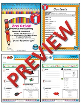 BUNDLE: 2nd Grade Watson Works Phonics & Spelling Zaner-Bloser~1 Year