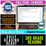 GROWING BUNDLE 3rd Grade Daily Reading Spiral Review Full