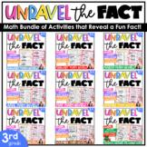 Third Grade Math Centers | Math Puzzles | Cut and Paste Op
