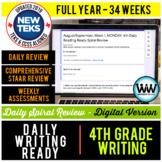 GROWING BUNDLE 4th Grade DIGITAL Daily Language Spiral Rev
